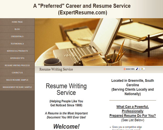expert resume writing website